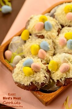 Easy birds nest cookies