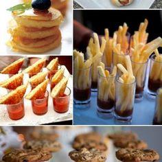 Mini Appetizer Ideas. Cute!