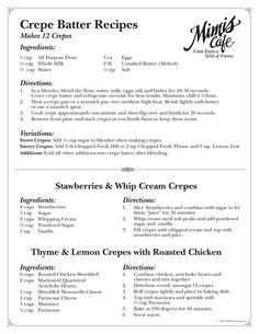 Mimi's Cafe crepe recipes