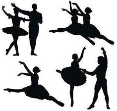 ballerin silhouett, danc silhouett, craft, ballet dancers, patterns, art, silhouettes, ballerina silhouett, printabl