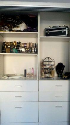 My jewelry closet.