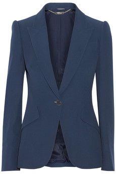 Alexander McQueen Crepe blazer | NET-A-PORTER