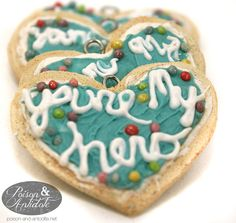 You're My Hero Cookie Pendant. $12.00, via Etsy.