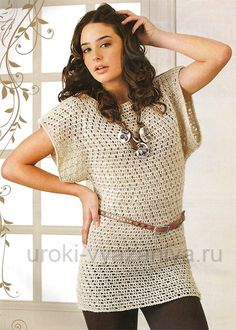 crochet  tunic with pattern (free with chart - not English, but you can understand)