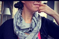 Printed scarf DIY