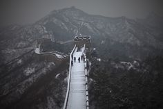 a dusting of snow on the great wall of china - via nbcnews photoblog