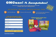 I just entered to win a year's worth of FREE guacamole and other amazing prizes. Click the link to enter yourself AND get me an extra entry. #OMGuac