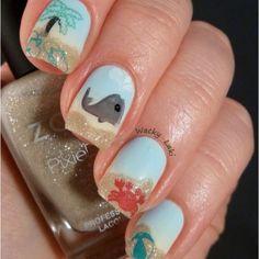Beach Nails! #cutenails #nailart #nails