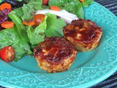 Cheddar-BBQ Turkey Meatloaf Muffins