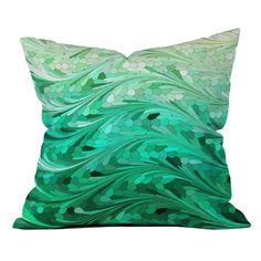 Emerald Sea Outdoor Throw Pillow