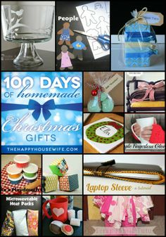 100 Days of Homemade Christmas Gifts | TheHappyHousewife.com