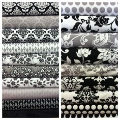 Mystique by Lila Tueller for @Riley Blake, full of bold sophistication. #fabric #blackandwhite