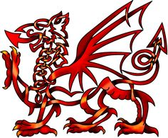 reddragon, celtic knots, dragons, wale, dragon tattoos, dragon spot, red dragon, welsh dragon tattoo, cymru