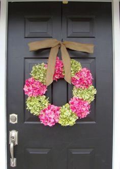 Hydrangea Spring Wreath-