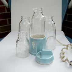Vintage Evenflo Baby Bottles and Warmer