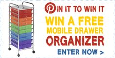 Pin it to Win it! 10 Drawer mobile organizer from ECR4Kids. {Be sure and return to our contest entry page to complete your entry}