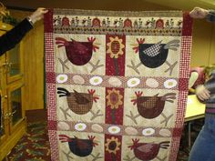 Lornas chicken and eggs quilt