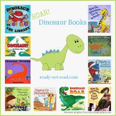 preschool theme, picture books, dinosaur activities