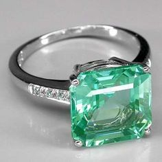 7 Carat Paraiba Tourmaline With Blue Apatite Sterling Ring