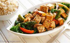 Thai Black Pepper Garlic Tofu from FatFree Vegan Kitchen | BlogHer