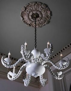 Octopus artist chandeliers by Adam Wallacavage.