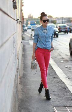 pink + denim