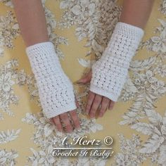 Crochet Fingerless Trinity Glove  PATTERN ONLY by CrochetItBaby, $4.00