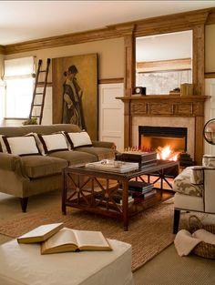 interior design, studios, earth tones, family rooms, cozy living rooms, studio interior, dream houses, live room, book rooms