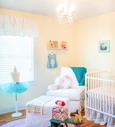 Soft and sweet vintage baby girl nursery