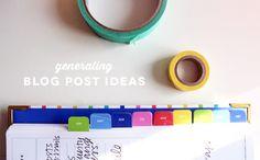 Generating Blog Post Ideas | Ann-Marie Loves
