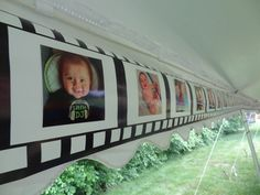 "Adorable first birthday party theme: ""Say Cheese!"" You can decorate with monthly pictures. #firstbirthday #partyidea"