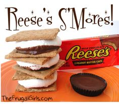 Reese's s'mores   Wonder how this will taste with chocolate Graham's