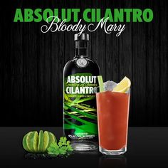 Spice up your Bloody with CILANTRO! http://www.absolutdrinks.com/en/drinks/absolut-cilantro-mary/