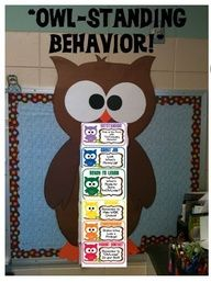 Owl Classroom Theme | Classroom Theme. She matched CTP's Dots on Chocolate Border with her owl!