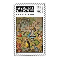Classic Alice in Wonderland stamps for your party invitations - Celebrate and Decorate!