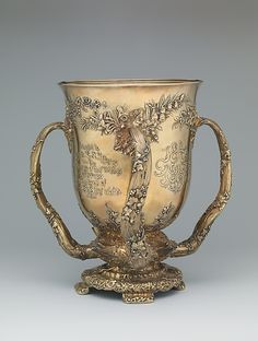 Loving Cup manufactured by Tiffany & Co., from NYC's Gilded Age c.1891.