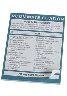 Ladylike Laws: Roommate Etiquette