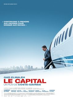 When the CEO of France's Phenix Bank collapses on the golf course, Machiavellian young executive Marc Tourneuil is crowned as his replacement. A whirlwind of ruthless ambition, power struggles, greed and deception ensues as Tourneuil's brutal ascent is jeopardized by a hostile takeover attempt from a large American hedge.  French, 114 min.  http://highlandpark.bibliocommons.com/search?utf8=%E2%9C%93&t=smart&search_category=keyword&q=capital+gad&commit=Search