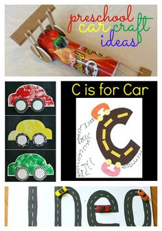C is for car car crafts, craft ideas, preschool