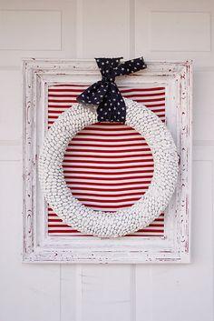 4th of July wreath. Cute!