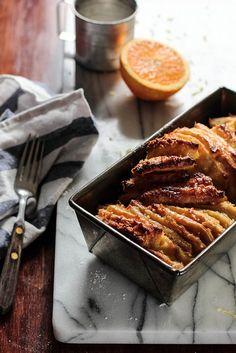 Orange Coconut Pull-ApartBread via Pastry Affair #recipe