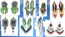 Earrings of the World Pattern, E-Book (PDF Download) by Charlotte Holley - Beaded Legends by Chalaedra at Bead-Patterns.com