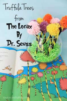 Dr. Seuss Craft: Truffula Trees - would be fun for pens on my desk