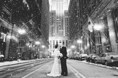 Romantic winter wedd