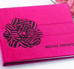 Zebra Print Bridal Shower Guest Book