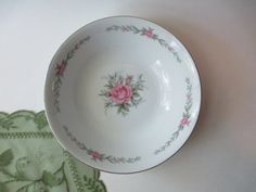 Vintage Fine China Japan Melody Rose Pink and by thechinagirl