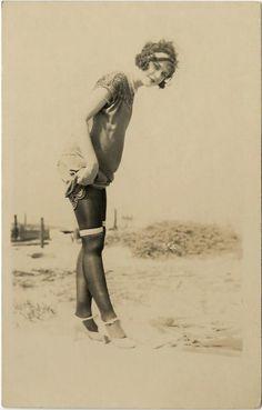 1920s  On the beach lady