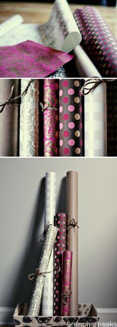 Pretty rolls of paper.