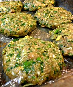 Spinach Chicken Burgers