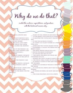 """Tricky bridal shower game...the nerd in me loves this....doubt I'll use it for my SIL, but always good to have something """"different"""" for shower games."""